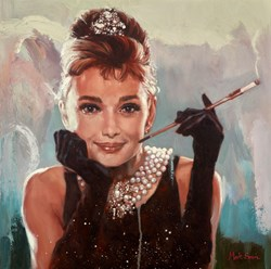 Audrey by Mark Spain - Original Painting on Stretched Canvas sized 20x20 inches. Available from Whitewall Galleries